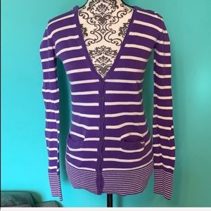 PINK Victoria's Secret Striped Hoodie Cardigan
